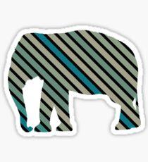 Striped elephant Sticker