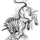 Brave unicorn by Julia Keil