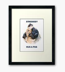 Pug Stress Relief Framed Print