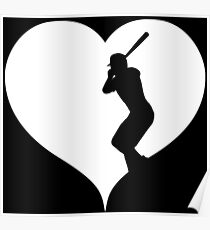 Heart Baseball Gift Poster