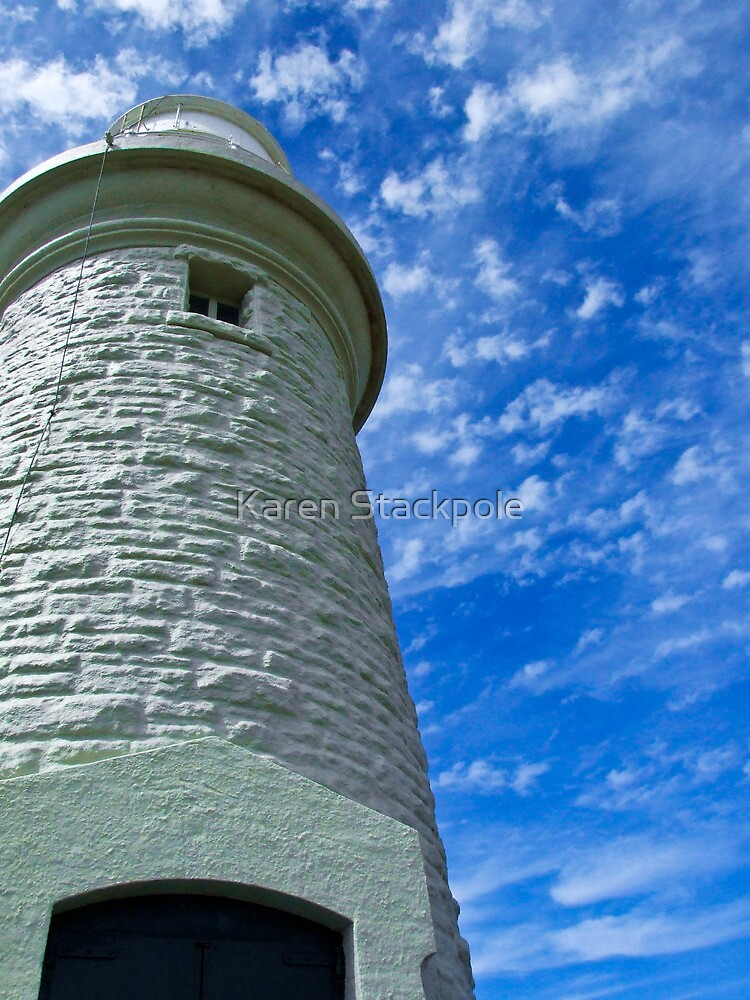 Beautiful cloud formations - Rotnest Island Lighthouse, Perth, Western Australia by Karen Stackpole