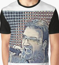 Abstract Portrait of Bono Graphic T-Shirt