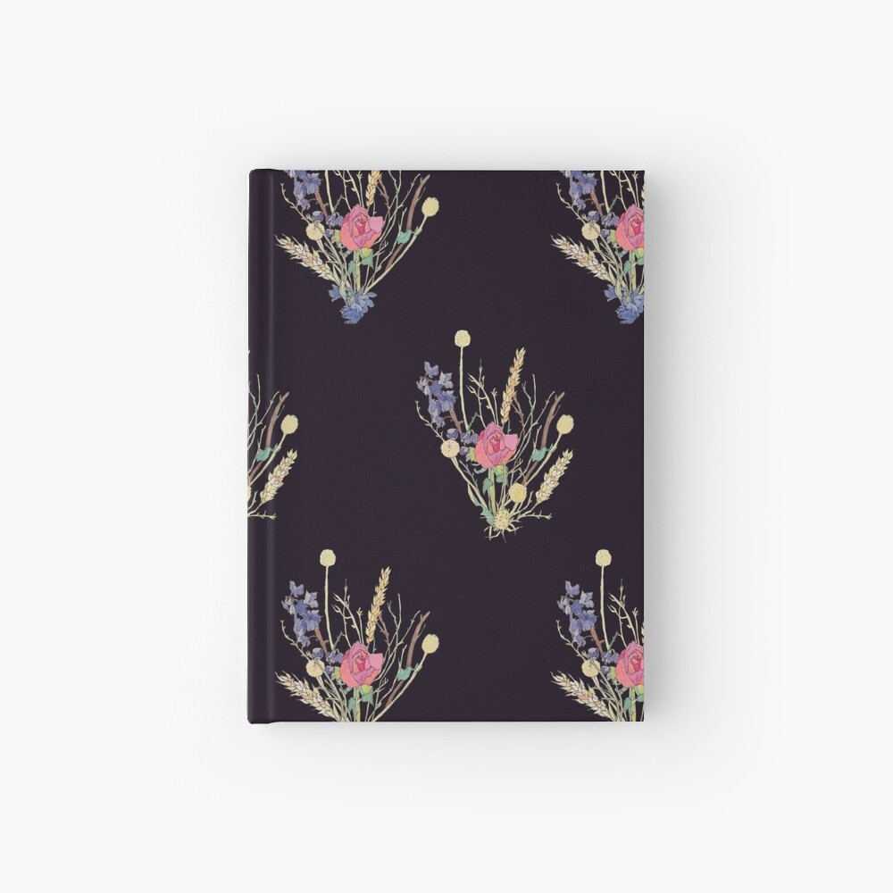 dried flower bouquet Hardcover Journal