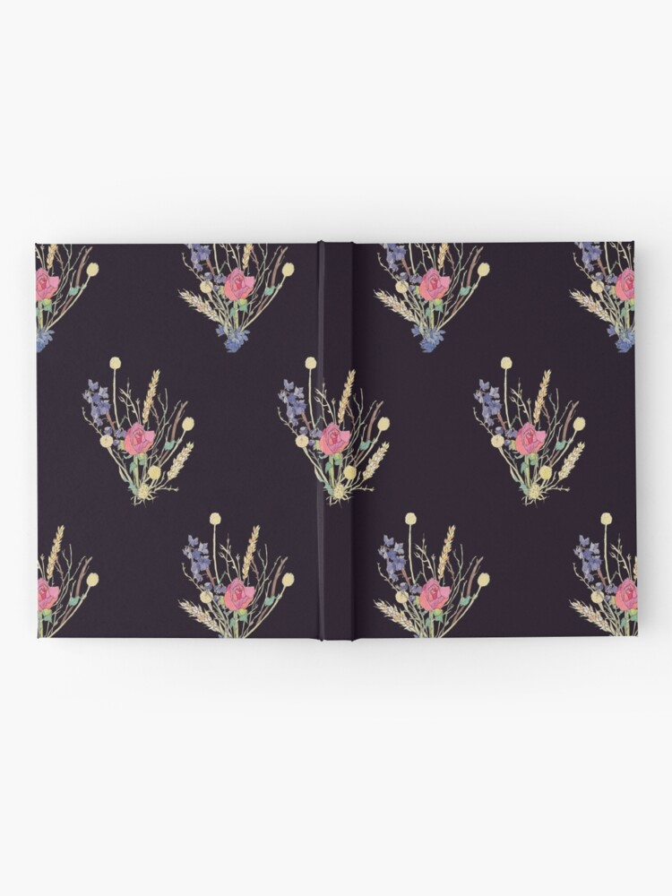 Alternate view of dried flower bouquet Hardcover Journal