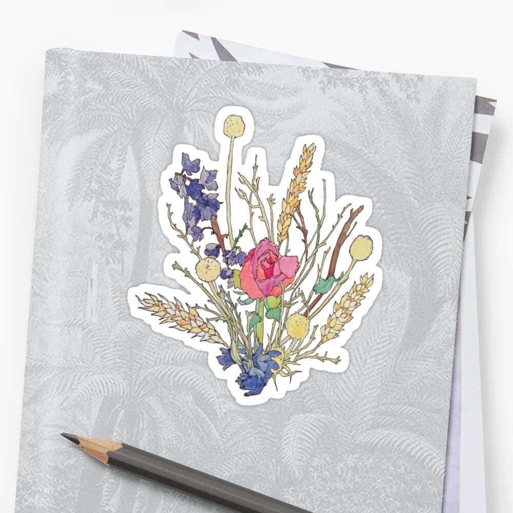dried flower bouquet Sticker