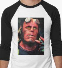 Camiseta ¾ bicolor para hombre Hellboy