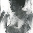 charcoal of Caitlin by djones