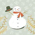 Happy Frosty Snowman by Katy Bloss by Katy Bloss
