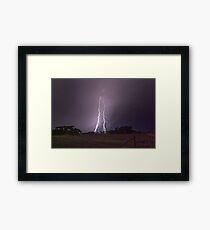 Peake Hill Lightning Framed Print