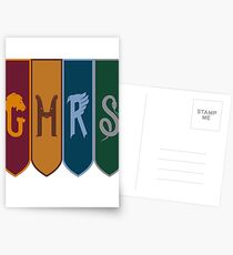 HARRY POTTER - HOGWARTS HOUSES Postcards