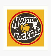 Shipley Houston Rockets Do-nuts  Art Print