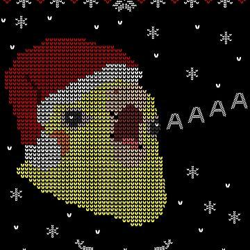 screamy christmas sweatshirt by FandomizedRose