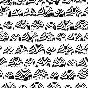 Black and White Abstract Pattern by nastybo