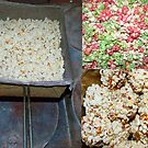 Popping corn,the Old fashioned way and The Finished product by MaeBelle