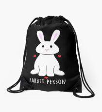 Kaninchen Person Rucksackbeutel