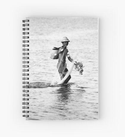 Balinese Fisherman Spiral Notebook
