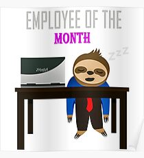 employee of the month posters redbubble