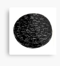Southern Hemisphere stars and constellation sky map  Metal Print