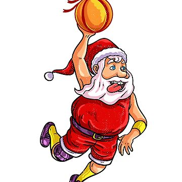 Santa basketball by 8fiveone4