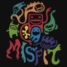 misfits - dark by Andi Bird