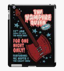 The Vampire Queen Music Poster iPad Case/Skin
