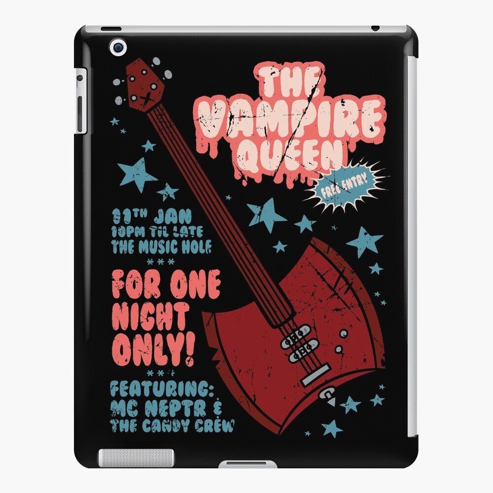 The Vampire Queen Music Poster iPad Case & Skin