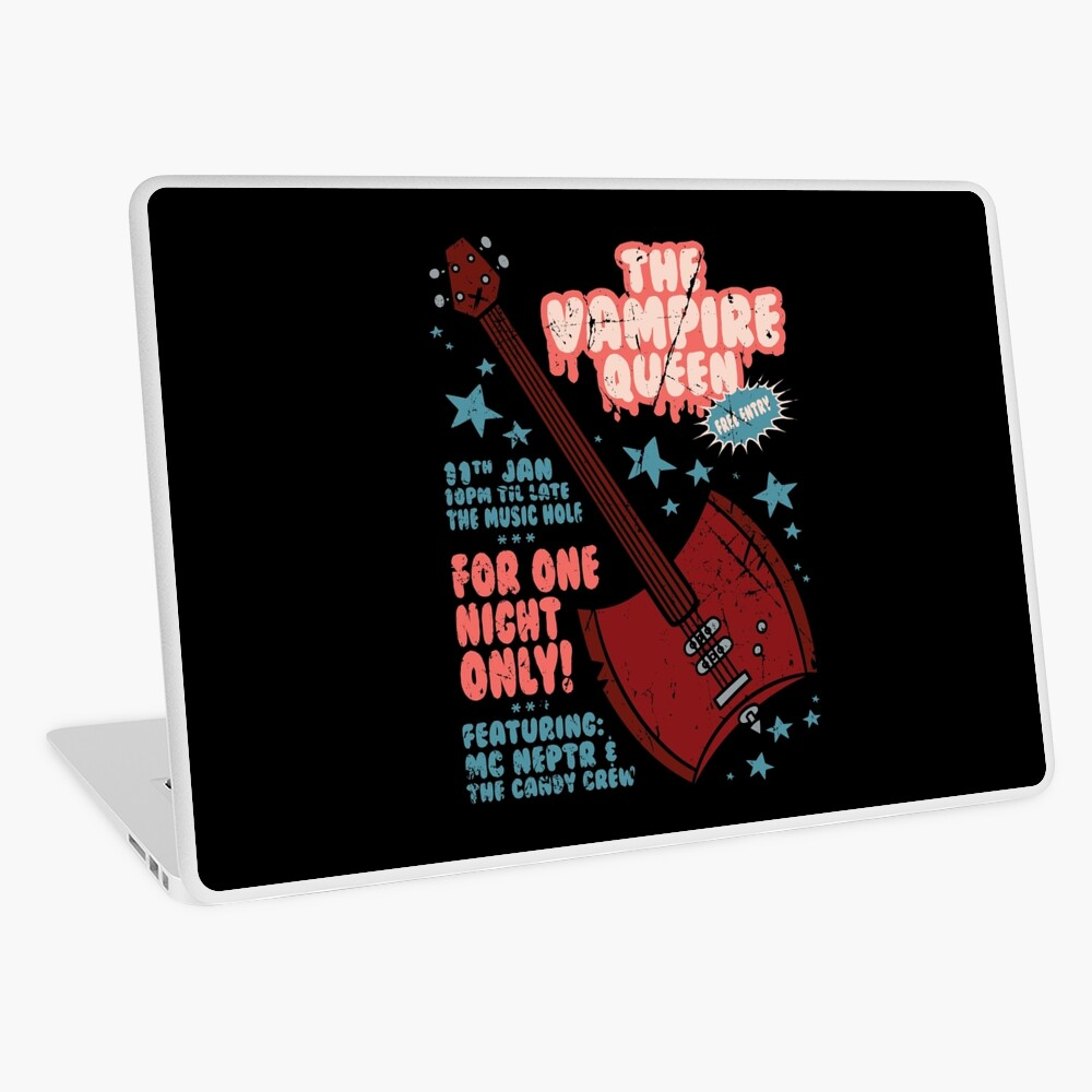The Vampire Queen Music Poster Laptop Skin