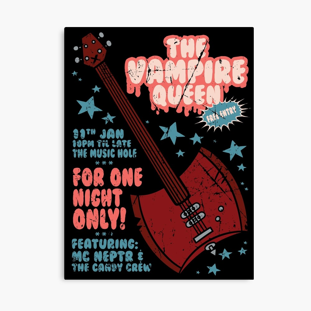 The Vampire Queen Music Poster Canvas Print