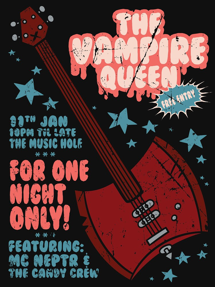 The Vampire Queen Music Poster by ToastMonsters