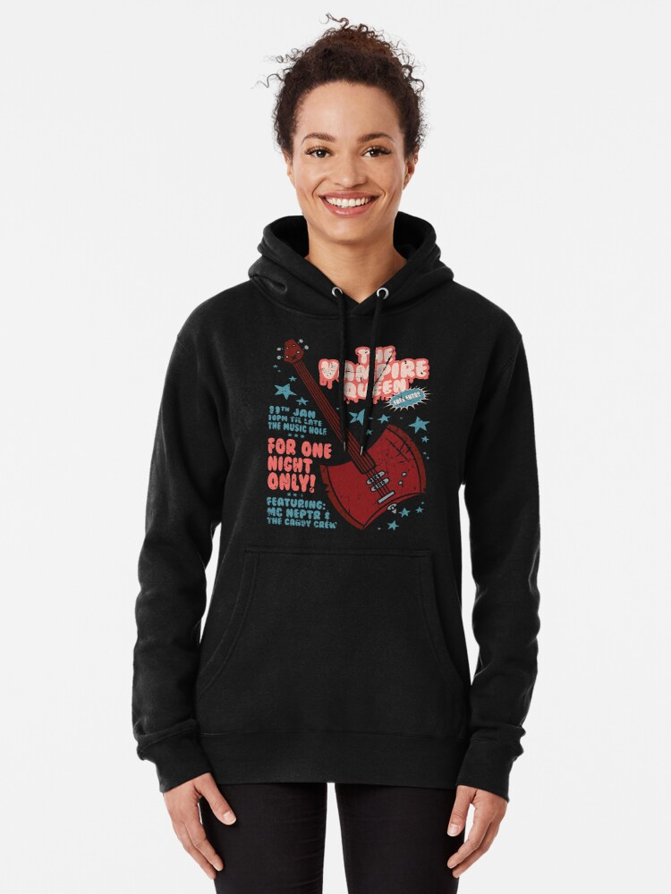 Alternate view of The Vampire Queen Music Poster Pullover Hoodie