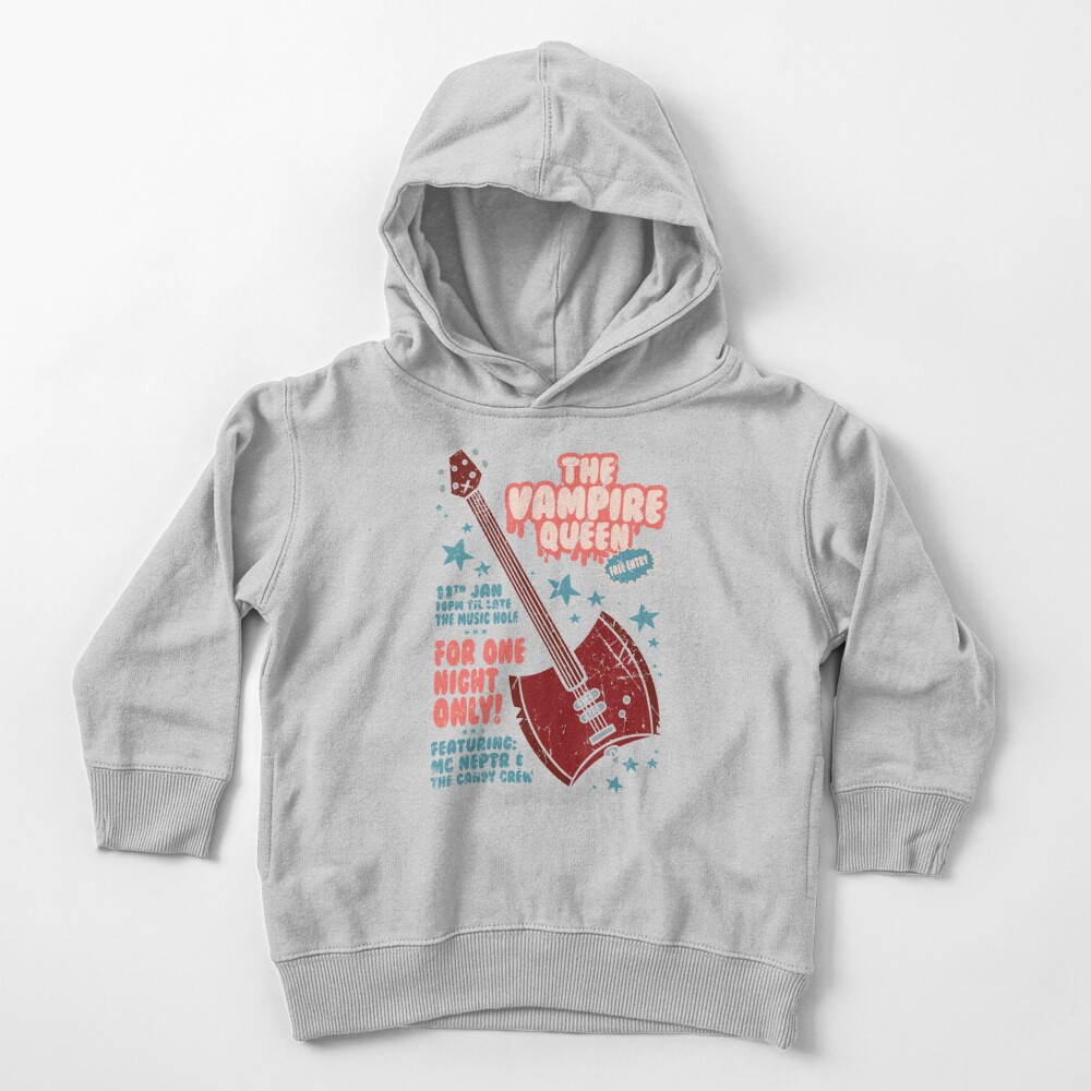 The Vampire Queen Music Poster Toddler Pullover Hoodie