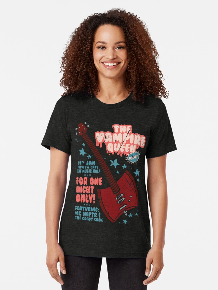 Alternate view of The Vampire Queen Music Poster Tri-blend T-Shirt