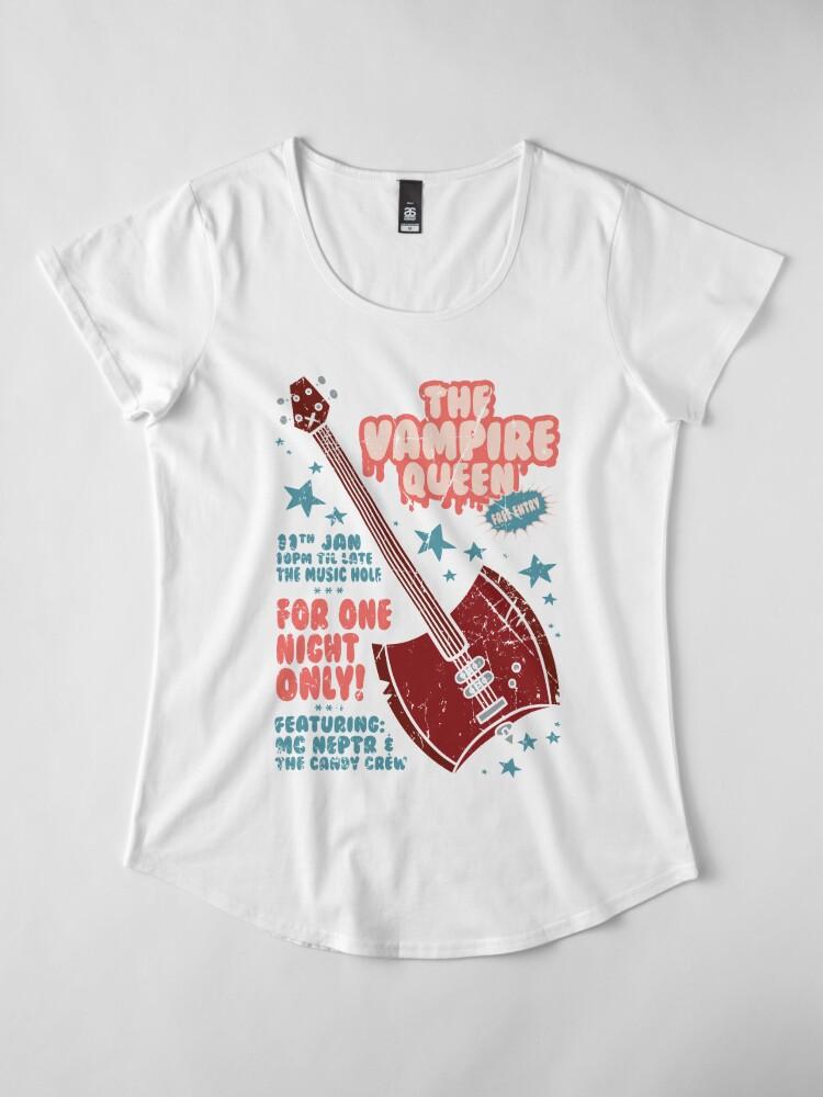 Alternate view of The Vampire Queen Music Poster Premium Scoop T-Shirt