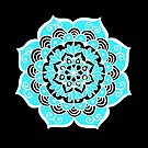 Lovely Sky Blue Mandala Flower by julieerindesign
