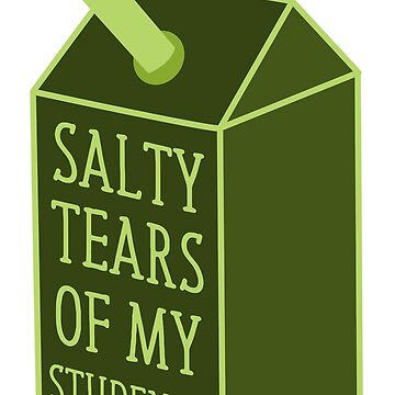salty tears of my students funny milk carton mug by jazzydevil