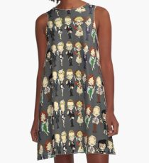 WHO-DUN-IT A-Line Dress