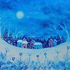 Winter Cottages by FrancesArt