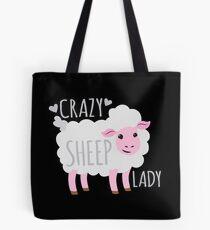 Verrückte Schaf-Dame Tote Bag