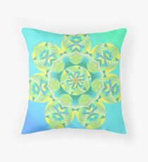 Grasshopper Katydid Leaves and Fauna Fall Into Winter Collection by Green Bee Mee Throw Pillow