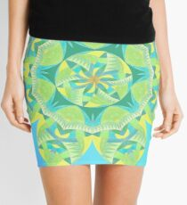 Grasshopper Katydid Leaves and Fauna Fall Into Winter Collection by Green Bee Mee Mini Skirt