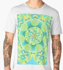 Grasshopper Katydid Leaves and Fauna Fall Into Winter Collection by Green Bee Mee Men's Premium T-Shirt
