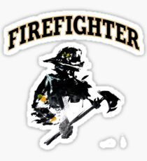 Brush with a Firefighter Sticker