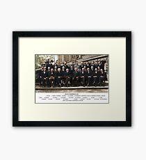 Solvay Conference  Framed Print