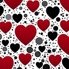 hearts pattern by Alaa Al Zoubi