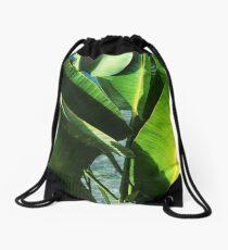 Tropical Banana Leaf Paradise  Drawstring Bag