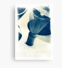 Cyanotype - chinese Shaving Brush Canvas Print