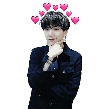 Suga con corazones emoji de kaptenzissou