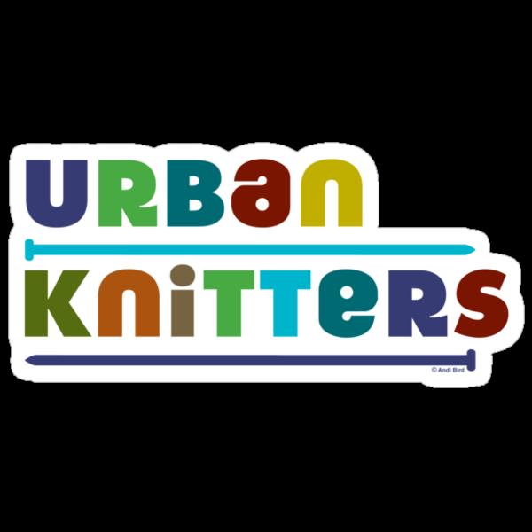 Urban Knitters - blues by Andi Bird