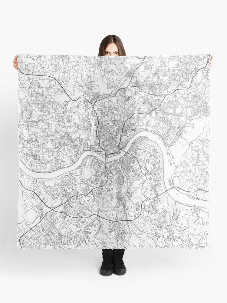 Cincinnati map poster print wall art, Ohio gift printable, Home and on