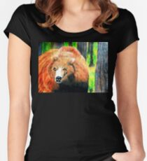 North American Grizzly Bear Women's Fitted Scoop T-Shirt